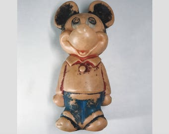 1950's Mickey Mouse Plastic Figurine/Bowling Pin
