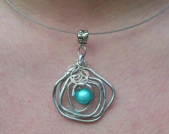 wire wheels magic Pearl pendant