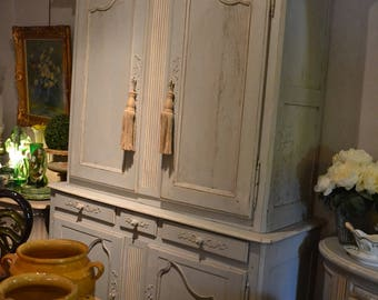 Buffet 2 louis xv French Provence 19th body weathered old