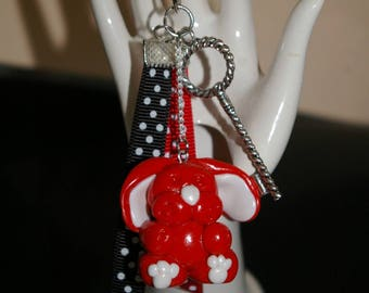 Jewelry bag, key fob in FIMO part1