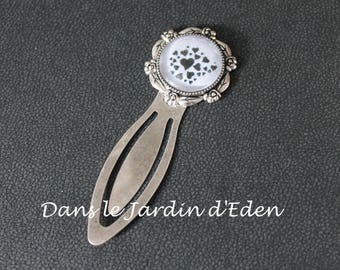 "Metal bookmark ""medley of hearts"""