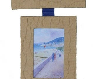 triptych of frames in cartonnage representing Cabourg