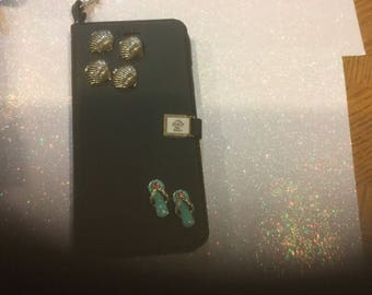 Handmade Blinged IPhone 6 flip open case