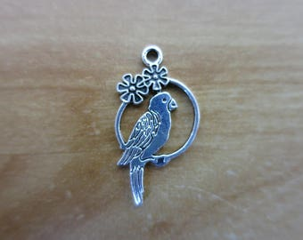 Silver Parrot charm