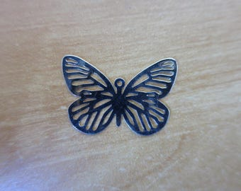 29 mm silver plated Butterfly charm