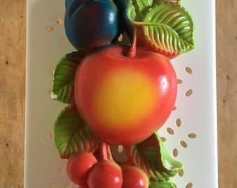 Chalkware, fruit, Miller Studio, 1974