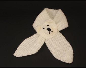 Bear baby 0-12 months scarf 100% Acrylic