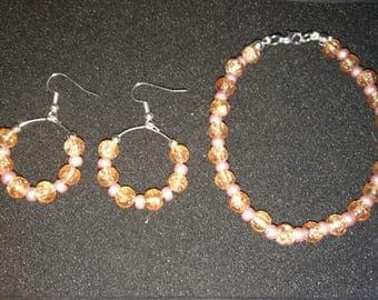 291. Handmade Earrings with matching bracelet