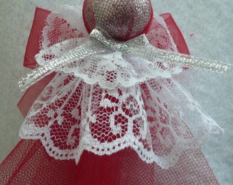 Tulle and Lace Christmas Angel Ornament, Hostess Gift, Co-worker, Housewarming, Teacher