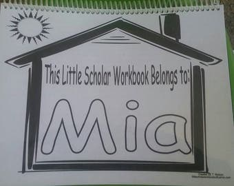 Personalized Little Scholar Workbook - Child(s) Name