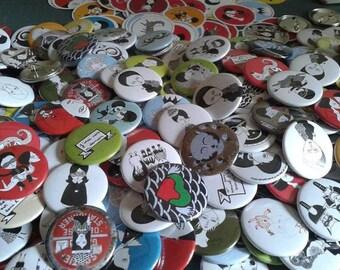 set of 6 badges