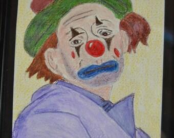 April challenge: the clown is sad tonight