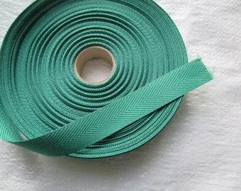 strap soft green cotton 2.5 cm