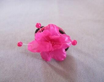 Black Pink aluminum Adjustable ring
