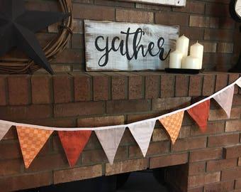 Fabric bunting: Autumn - Fall - wall decor - photo prop