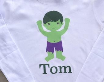 Personalized Cute Incredible Hulk Birthday Shirt