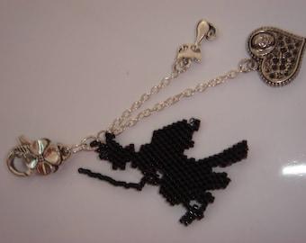 Jewelry handbag witch halloween charms