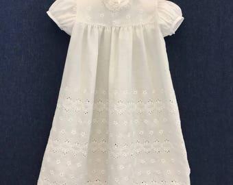 Eyelet Christening Gown