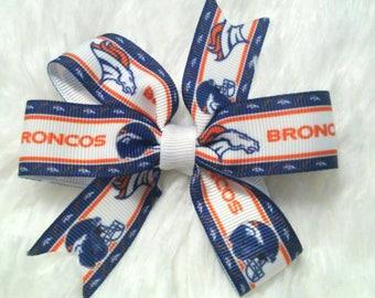 3 inch Denver Broncos football bow