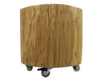 Tree trunk table oak, Ø approx. 45 cm