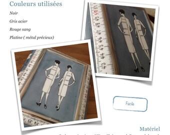 Rétro-couture - Fiche créative peinture sur porcelaine