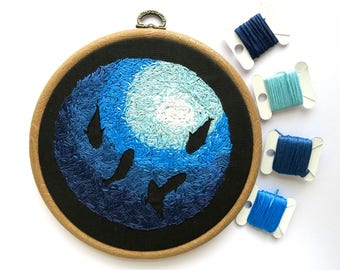 Underwater View Embroidery