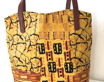 African fabric handbag