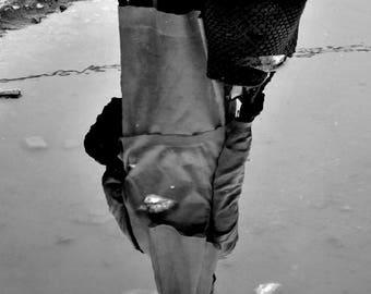 "Photography black and white: ""Spiritual reflection"" - Mananjar, MADAGASCAR - 2015"