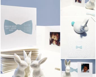 Bow tie collection, birth announcements