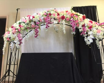 Wedding Arch Swag, Wedding Garland, Large Wedding Swag, Church Swag, Rustic Wedding Swag, Arbor Swag, Church Wedding Swag Decoration