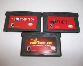 Mother 1, 2 and 3 Earthbound Fire Emblem Binding Blade Game Boy Gameboy ENGLISH