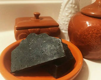 Peppermint charcoal clay soap