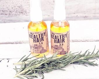 natural hair growth, organic hair oil, hair conditioner, oil treatment, argan oil, leave in hair treatment, Healthy Hair1.0 & 2.0 set , 2oz