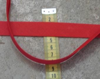 Red bias folded 20mm wide 3 meters