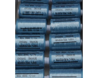 teal polyester 1000 thread 217 yards