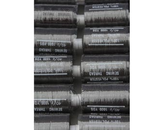 Green polyester thread very dark 328 1000 yards