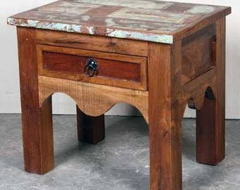 Charming Reclaimed Indian Side Table