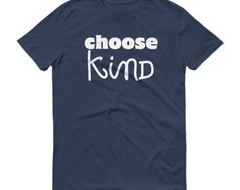 Choose Kind Wonder RJ Palacio anti bullying kindness positive message, acceptance, perserverance, school education Short-Sleeve T-Shirt