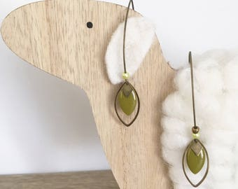 Bronze sequins and charm earrings