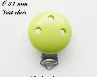 Clip / wooden pacifier Clip, Ø 37 mm from loop: light green