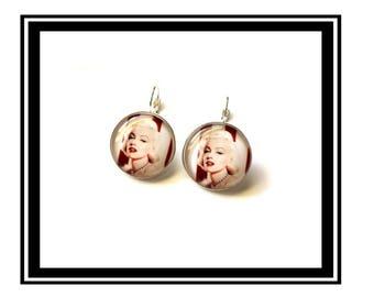 """Earrings original vintage kennedy, dress, blonde, """"Marilyn Monroe"""""""