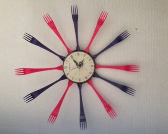 clock wall decor forks
