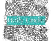 "Digital Colouring Page ""CellSwirlHoneyShine"""