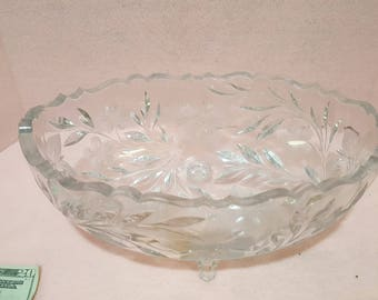 Crystal Punch Bowl old