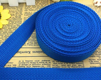 Ribbon / handle / electric blue strap - 25mm wide