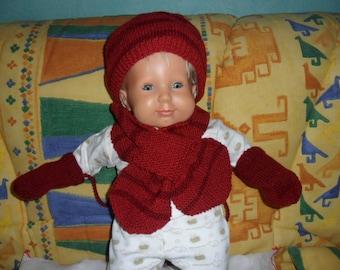 Hat scarf mittens 18-24 months baby