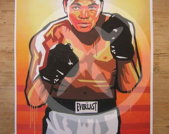 MOHAMMED ALI - Sting like a Bee : Pop ART A4 Size Giclee Print