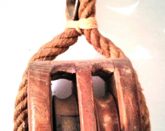 Great old industrial/nautical pulley