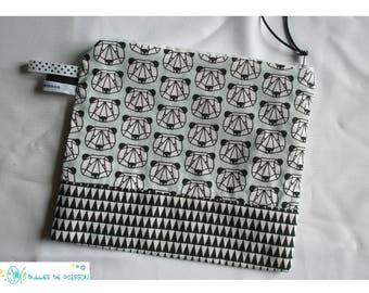 "Kit zipped ""bear origami"" tote bag"