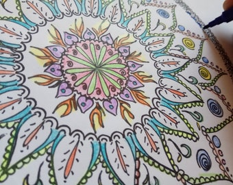 Teen coloring pages   Etsy